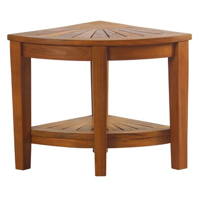 Decoteak 3 Tier Classic Spa Teak Corner Outdoor Shelf