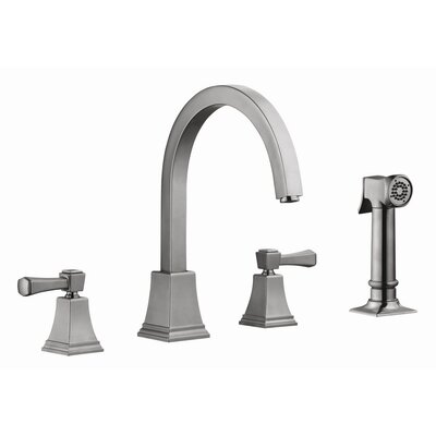 Torino Double Handle Kitchen Faucet with Sprayer Product Photo