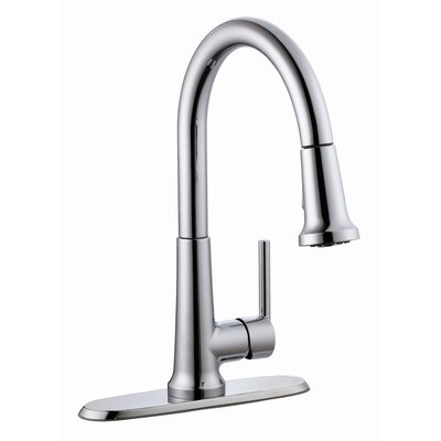 Geneva Single Handle Kitchen Faucet with Pullout Sprayer Product Photo