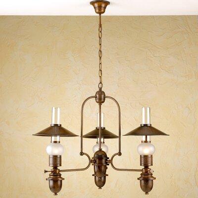 Rustik Velha Three Light Chandelier by Lustrarte Lighting