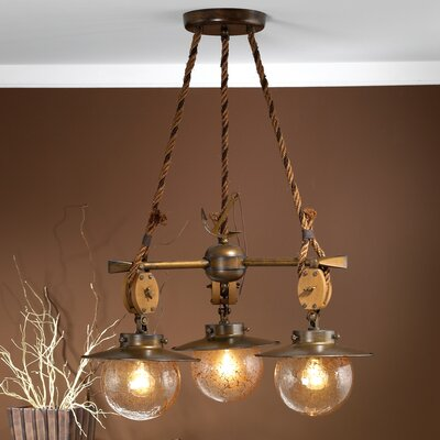 Nautic Cadernal Three Light Chandelier Product Photo
