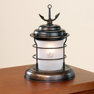 "Lustrarte Lighting Nautic Caravela 13.78"" H Table Lamp with Novelty Shade"