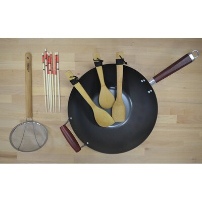 4-Piece Non-Stick Wok Cookware Set by IMUSA