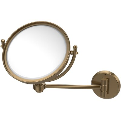 Wall Mounted Make-Up 3X Magnification Mirror with Groovy Detail by Allied Brass