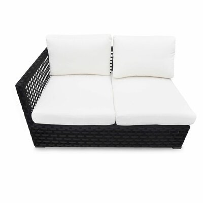 Matterhorn Left Arm Facing Loveseat with Cushion by Source Outdoor