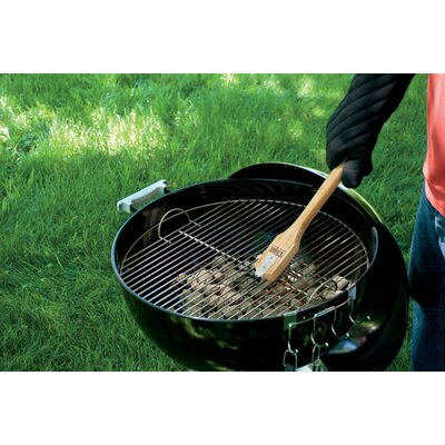 """Weber 12"""" Grill Brush with Bamboo Handle"""