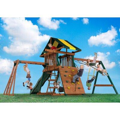Wood Castle Rock Swing Set Product Photo