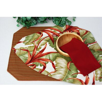 Outdoor Table Linen Reversible Wedge Placemat by Pacific Table Linens