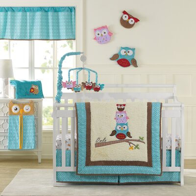 Spotty Owls 10 Piece Crib Bedding Set by Laugh, Giggle & Smile