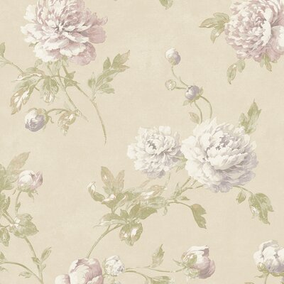 "York Wallcoverings Fresco Wellington 27' x 27"" Floral Bontanical Embossed Wallpaper"
