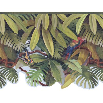 "York Wallcoverings York Kids IV 1.39' x 1.75"" Wildlife Border Wallpaper"
