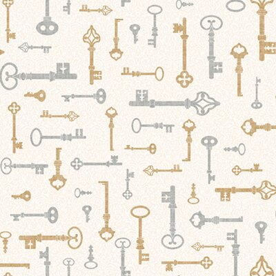 """York Wallcoverings Bistro 750 33' x 20.5"""" Key and Mini Foiled Wallpaper"""