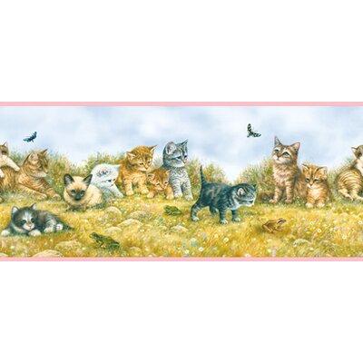 """York Wallcoverings York Kids IV Kitten 0.75' x 1.5"""" Wildlife Border Wallpaper"""