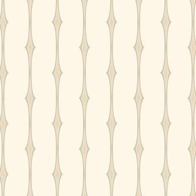 "York Wallcoverings Candice Olson II 27' x 27"" Stripe Foiled Wallpaper"