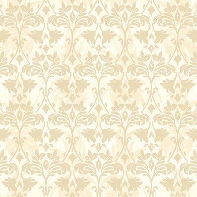 "York Wallcoverings Gentle Manor 27' x 27"" Drybrush Damask Wallpaper"