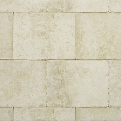 "York Wallcoverings Modern Rustic Block 33' x 27"" Trompe L'oeil Wallpaper"