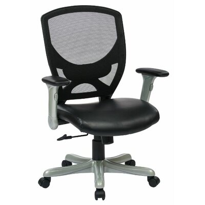 Office Star Products High-Back Woven Mesh Conference Chair with Padded Flip Arms