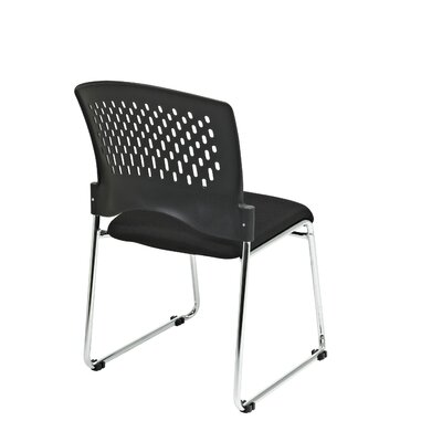 Office Star Products Guest Chair with Plastic Back Fabric Seat