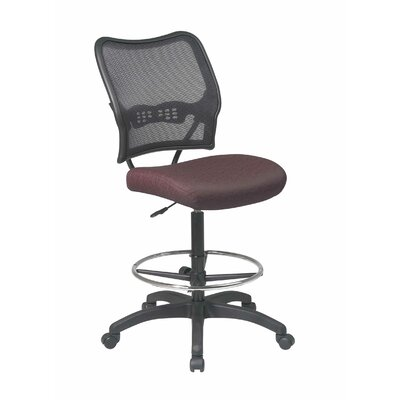 Office Star Products Height Adjustable Drafting Chair with Casters
