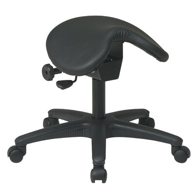 Office Star Backless Drafting Chair With Saddle Seat And