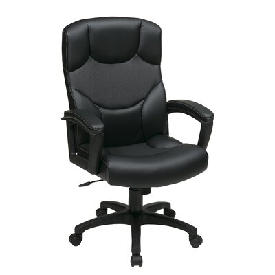 Office Star Products Work Smart Leather Executive Chair