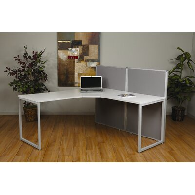 Office Star Products Box Office Two Panels and 90 Degree L Shape Desk