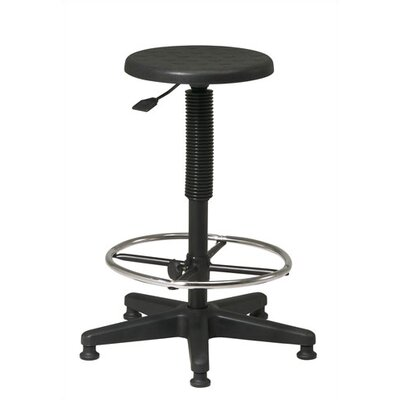 Office Star Products Height Adjustable Drafting Stool with Footring