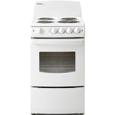 2.4 Cu. Ft. Electric Range in White Product Photo