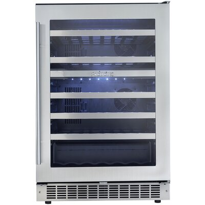 Silhouette 51 Bottle Dual Zone Built-In Wine Refrigerator by Danby
