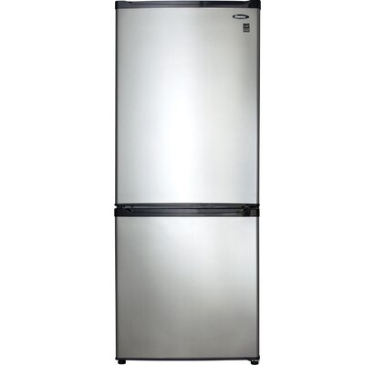 9.2 cu. ft. Bottom Freezer Refrigerator in Black/Stainless Steel with Adjustable Shelving Product Photo