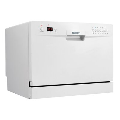 Danby 6 Place Setting Countertop Dishwasher in White