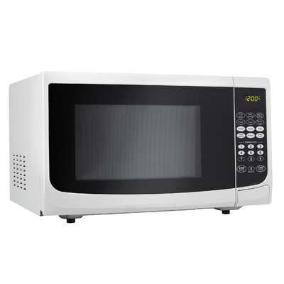 0.7 Cu. Ft. 700W Countertop Microwave in White Product Photo