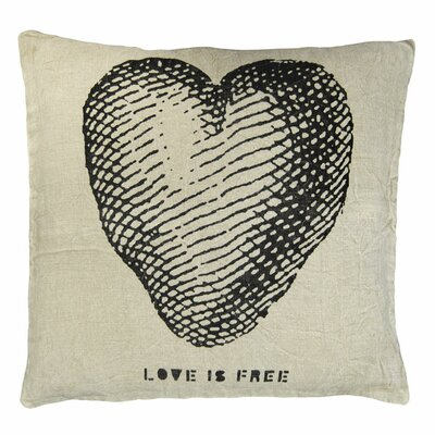 Sugarboo Designs Love is Free Linen Throw Pillow