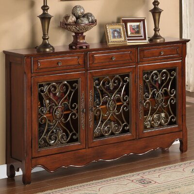 Three Door Scroll Console Table by Powell