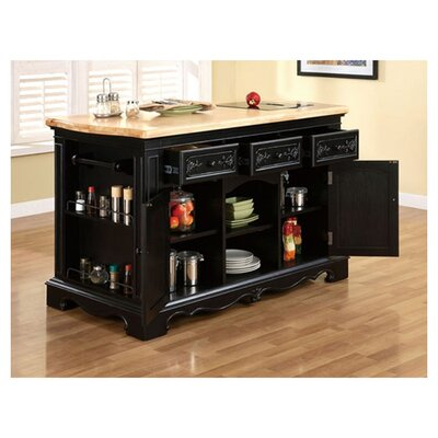 Pennfield Kitchen Island with Granite Top Product Photo