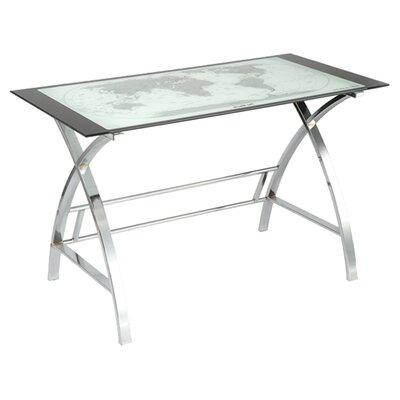 Powell Furniture World Map Writing Desk