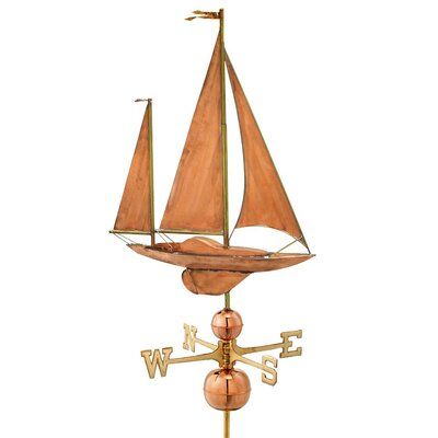 Good Directions Sailboat Estate Weathervane