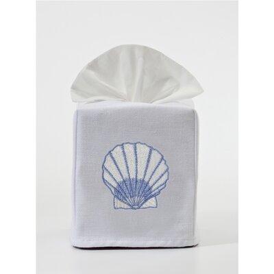 Scallop Tissue Box Cover by Jacaranda Living