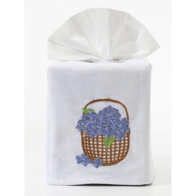 Hydrangea Basket Tissue Box Cover by Jacaranda Living
