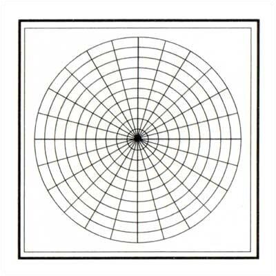 Marsh Polar Coordinates Magnetic Graphic/Grid Whiteboard, 4' x 4'