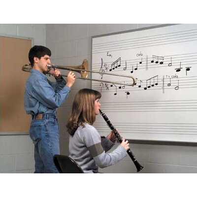Marsh Music Staff Lines Magnetic Wall Mounted Graphics Whiteboard
