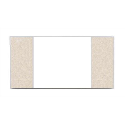 Marsh Crest-Line XL Series H Configuration Magnetic Bulletin and Whiteboard