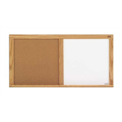 Marsh Cork and Remarkaboard Combinations Wall Mounted Bulletin Board