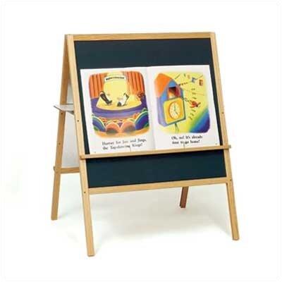 Marsh Children's Easels - Multi-task Easel Free-Standing Magnetic Chalkboard, 4' x 3'