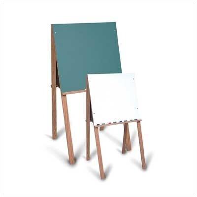 "Marsh Children's Drawing Easel 3' 10.38"" x 1' 11.75"" Double Sided Green Chalkboard and Whiteboard"