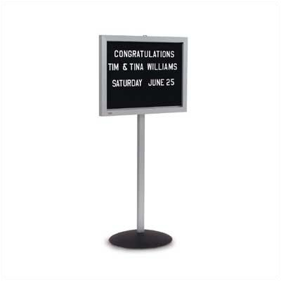 Marsh Single Pedestal Free-Standing Letter Board, 4' x 3'