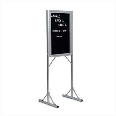 Marsh 369 Double Pedestal Free-Standing Letter Board