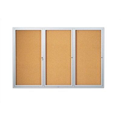 Marsh Deluxe Enclosed Wall Mounted Bulletin Board