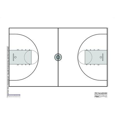 Marsh Dry-Erase Coaching Aides Mat Basketball Magnetic Whiteboard, 1' x 2'