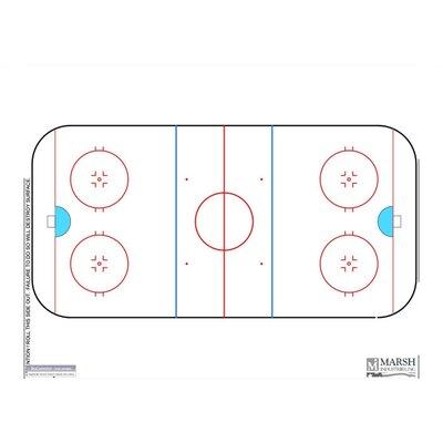 Marsh Dry-Erase Coaching Aides Mat Hockey Magnetic Whiteboard, 1' x 2'